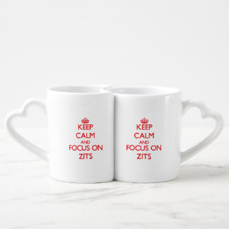 Keep Calm and focus on Zits Lovers Mug Set