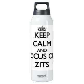 Keep Calm and focus on Zits 16 Oz Insulated SIGG Thermos Water Bottle