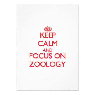 Keep Calm and focus on Zoology Announcements