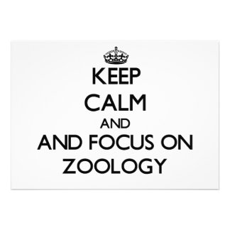 Keep calm and focus on Zoology Invitation