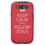Keep Calm and Follow Jesus Samsung Galaxy SIII Cases