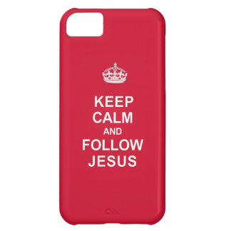 Keep Calm and Follow Jesus iPhone 5C Cover