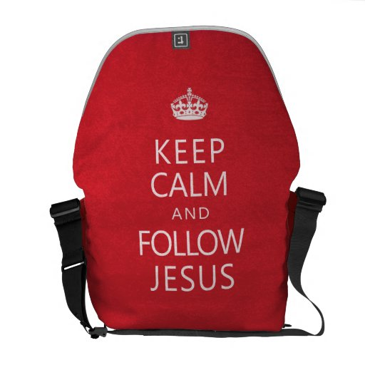 Keep Calm and Follow Jesus Courier Bags