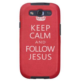 Keep Calm and Follow Jesus Galaxy SIII Covers
