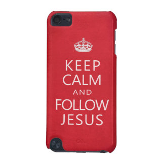 Keep Calm and Follow Jesus Inspiration Parody iPod Touch (5th Generation) Case