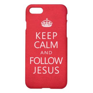 Keep Calm and Follow Jesus Inspirational iPhone 8/7 Case