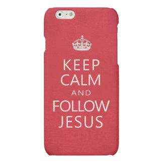 Keep Calm and Follow Jesus Inspirational Matte iPhone 6 Case
