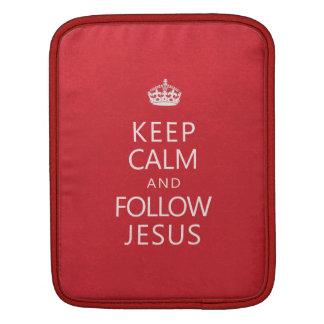 Keep Calm and Follow Jesus iPad Sleeve
