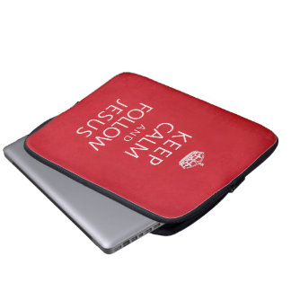 Keep Calm and Follow Jesus Laptop Computer Sleeves