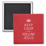 Keep Calm and Follow Jesus Refrigerator Magnets