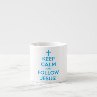 Keep Calm And Follow Jesus 6 Oz Ceramic Espresso Cup