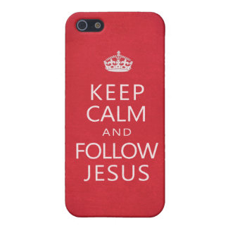 Keep Calm and Follow Jesus Spiritual Inspiration Cover For iPhone SE/5/5s