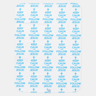 Keep Calm And Follow Jesus Swaddle Blanket