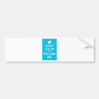 Keep Calm And Follow Me Carry On Twitter Bird Bumper Sticker