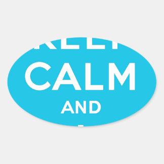 Keep Calm And Follow Me Carry On Twitter Bird Oval Sticker