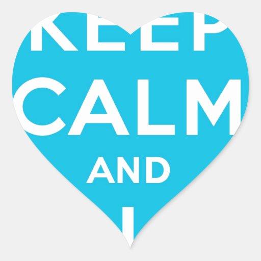 Keep Calm And Follow Me Carry On Twitter Bird Heart Sticker