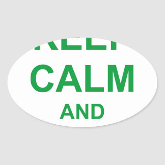 KEEP CALM AND FOLLOW ME CROWN OVAL STICKER