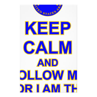 KEEP CALM AND FOLLOW ME INFANTRY SCHOOL STATIONERY