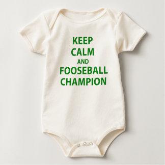 Keep Calm and Fooseball Champion Baby Bodysuit