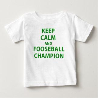 Keep Calm and Fooseball Champion Baby T-Shirt