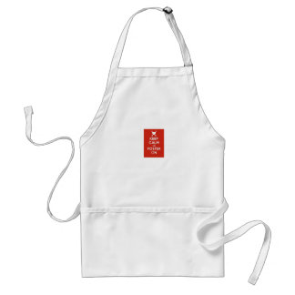 Keep calm and foster on adult apron