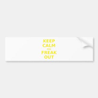 Keep Calm and Freak Out Bumper Sticker