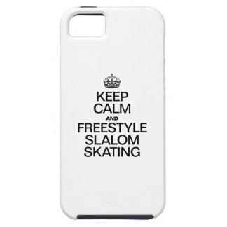 KEEP CALM AND FREESTYLE SLALOM SKATING iPhone SE/5/5s CASE