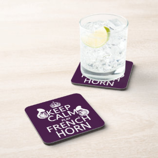 Keep Calm and French Horn (any background color) Drink Coaster