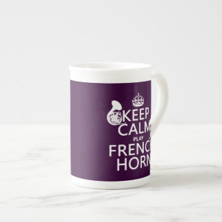 Keep Calm and French Horn (any background color) Tea Cup