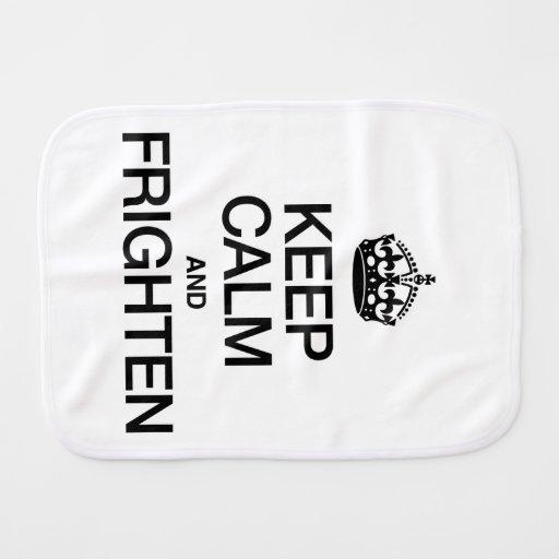 KEEP CALM AND FRIGHTEN BURP CLOTH