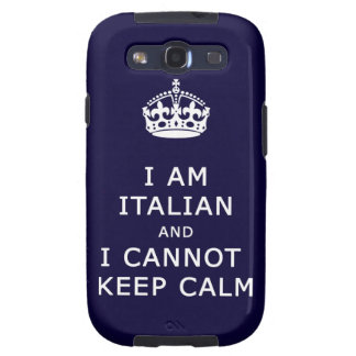 Keep Calm and funny italian Galaxy S3 Covers