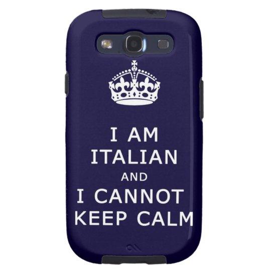 Keep Calm and funny italian Galaxy SIII Case