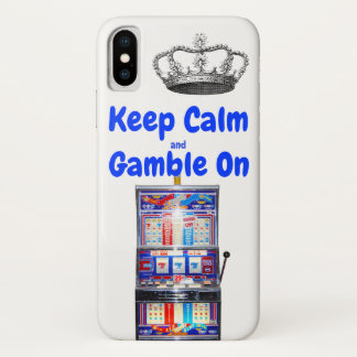 Keep Calm and Gamble On Las Vegas iPhone X Case