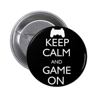 Keep Calm and Game On 2 Inch Round Button