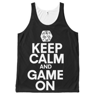 Keep calm and game on All-Over print tank top