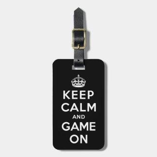 Keep Calm and Game On Bag Tag