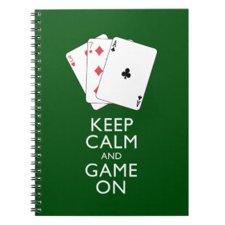 KEEP CALM AND GAME ON - Card Games Notebook