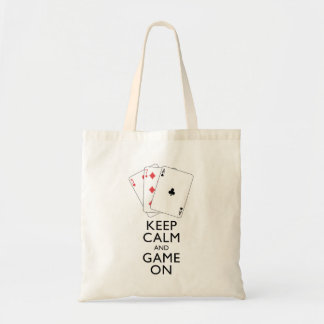 KEEP CALM AND GAME ON - Card Games Tote Bag