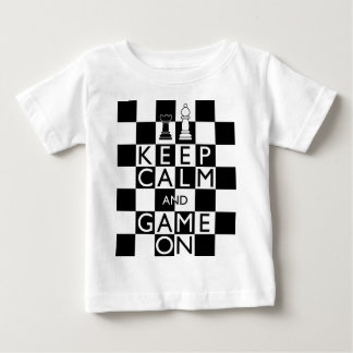 KEEP CALM AND GAME ON - Chess Baby T-Shirt