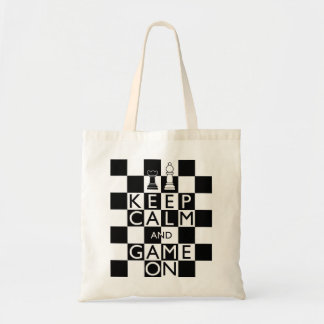 KEEP CALM AND GAME ON - Chess Tote Bag
