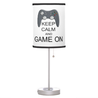 Keep Calm And Game ON Desk Lamp