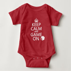 Baby Jersey Bodysuit with Keep Calm and Game On design