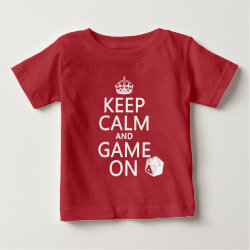 Baby Fine Jersey T-Shirt with Keep Calm and Game On design