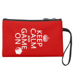 Keep Calm and Game On - dice - all colors Wristlet Clutches