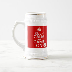 Stein with Keep Calm and Game On design