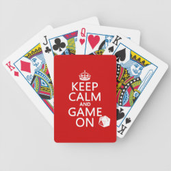 Playing Cards with Keep Calm and Game On design