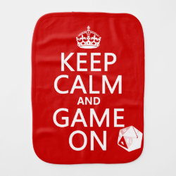 Burp Cloth with Keep Calm and Game On design