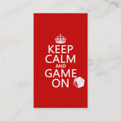 with Keep Calm and Game On design
