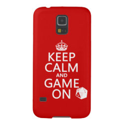 Keep Calm and Game On Case-Mate Barely There Samsung Galaxy S5 Case