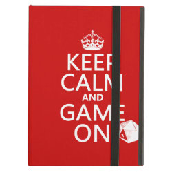iPad Air Powis Case with Keep Calm and Game On design